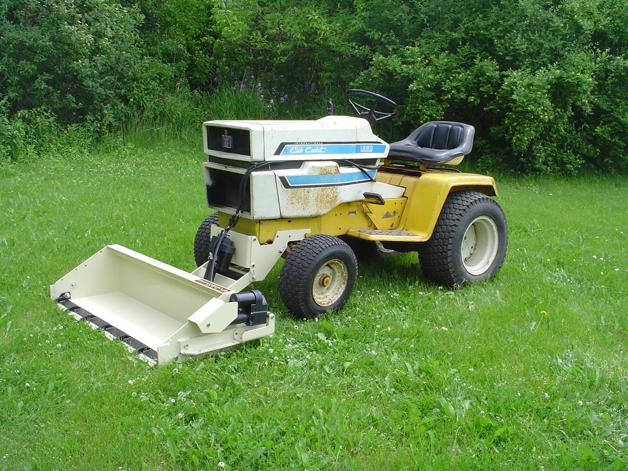 Garden Tractor Bucket : Cub cadet johnny bucket jr page